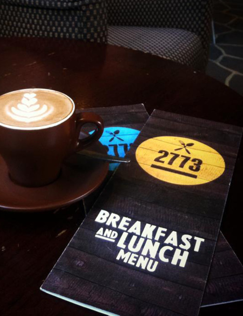 SansSerif, cafe 2773, branding